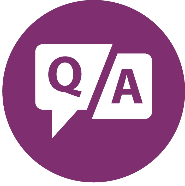 Q&A purple icon