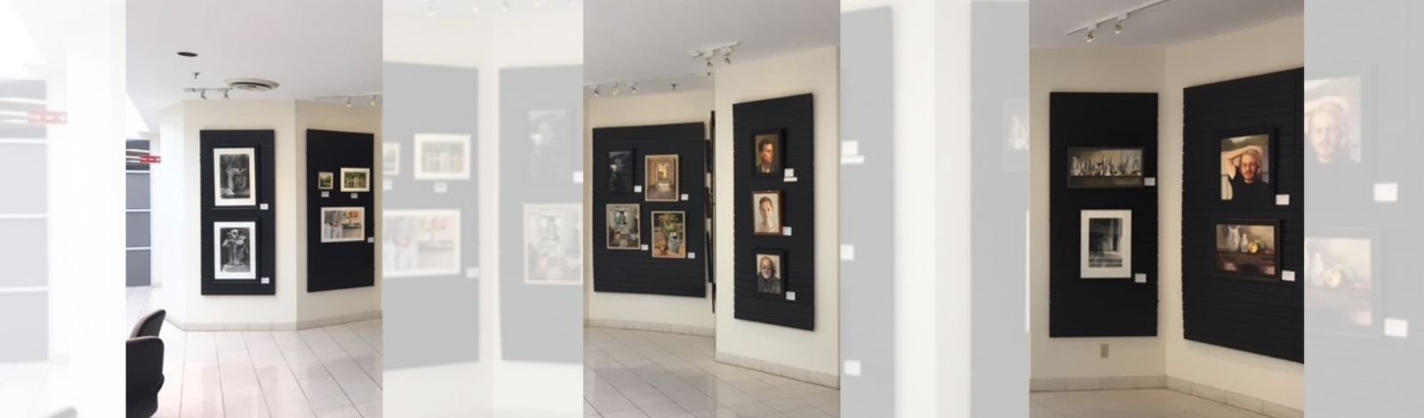 Artwork displayed on gallery wall